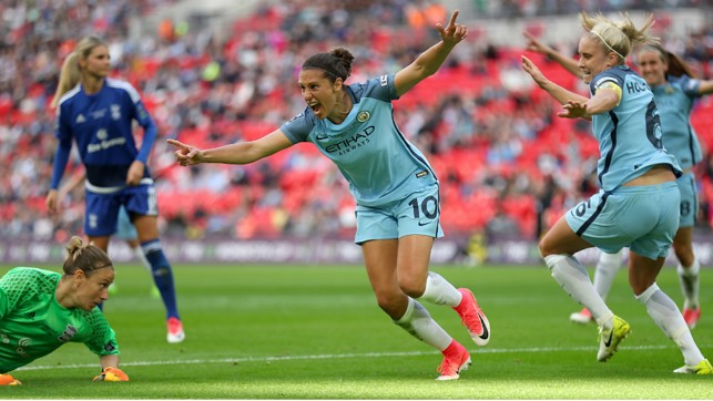 WEMBLEY WONDER: And she scored again on the hallowed turf in the FA Cup final