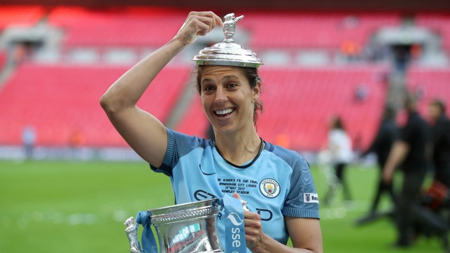 CUP GLORY: A new trophy to add to her list of achievements
