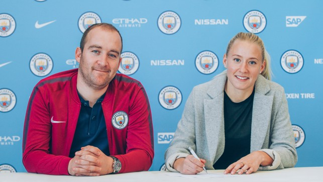 NEW BOSS: Julia is looking forward to working with manager Nick Cushing