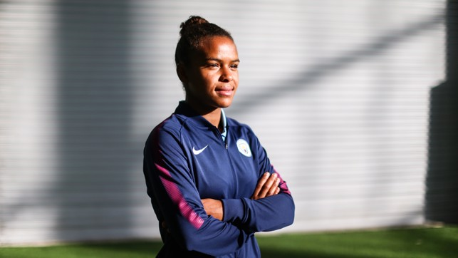 FOCUSED: The forward believes she can develop to a higher level at City