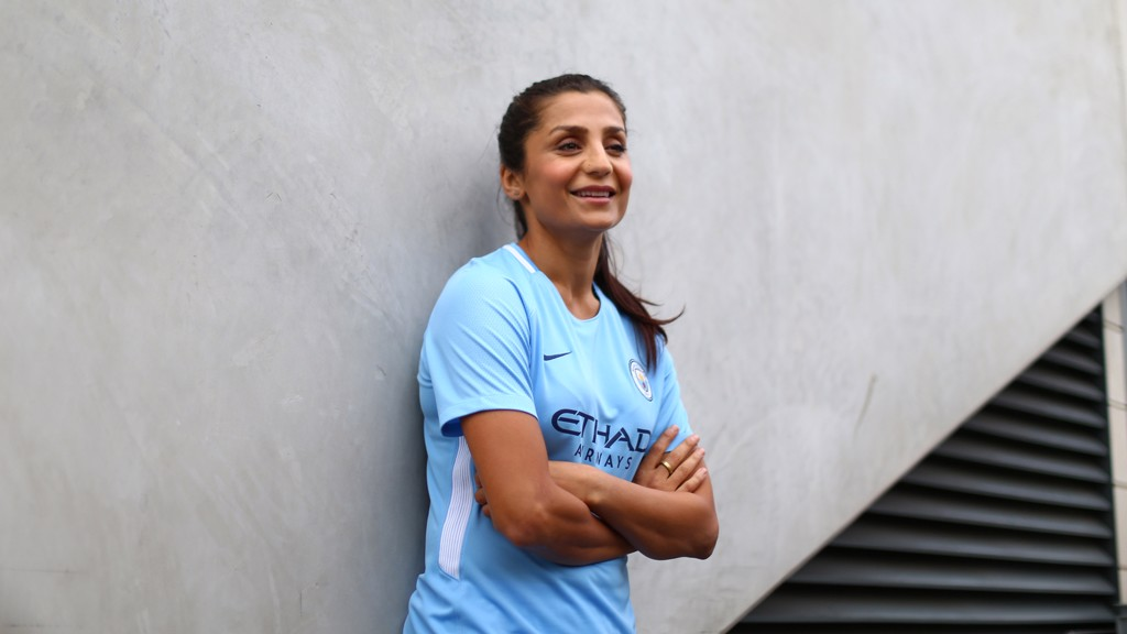 HAPPY TO BE HERE: The forward cannot wait to kick off her City career