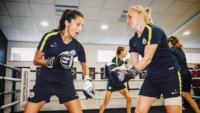 BEAST MODE: Nadia Nadim and Pauline Bremer do battle