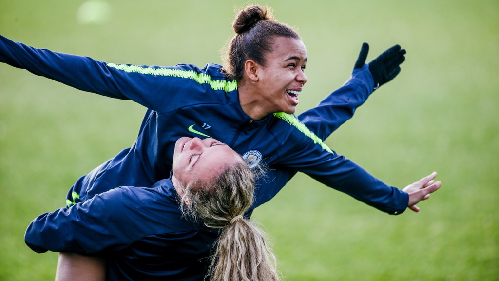 FLYING HIGH: Nikita Parris gets some airtime!