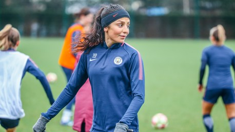 ANOTHER NEWBIE: fellow new signing Nadia Nadim steps out for the second time.