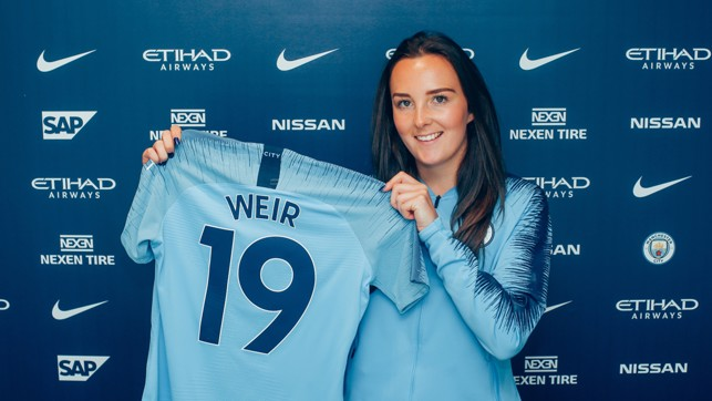 LUCKY NUMBER: Weir will wear the number 19.