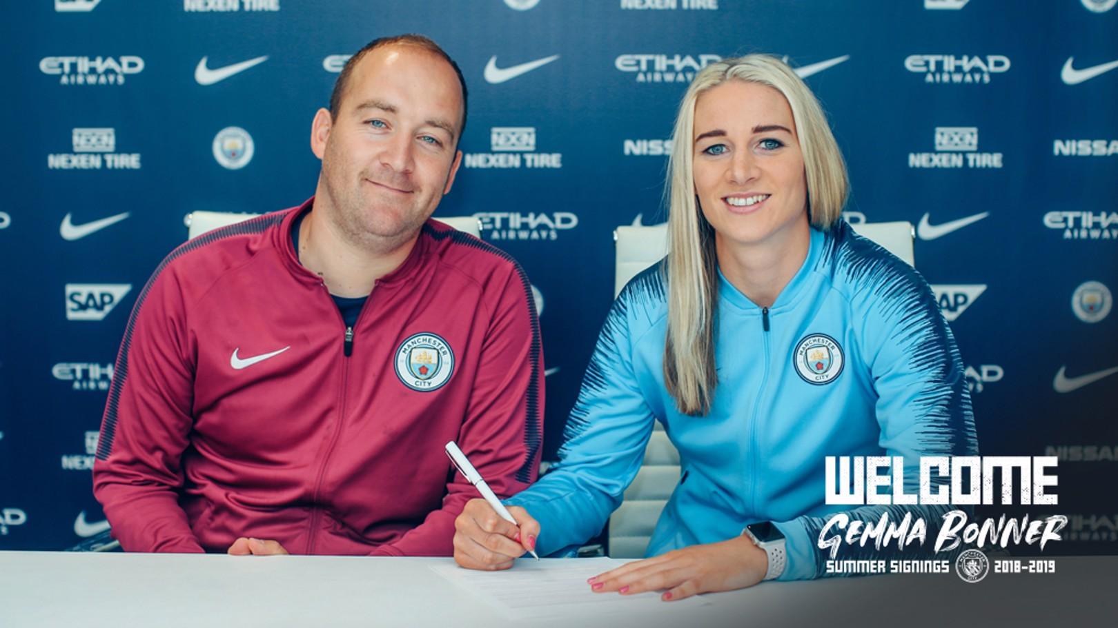 NEW RECRUIT: Defender Gemma Bonner signs for City