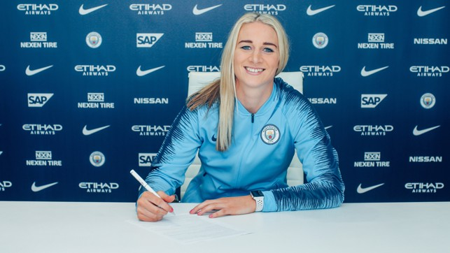 ALL SMILES: Bonner says she is delighted to have signed for Club she deems 'special'