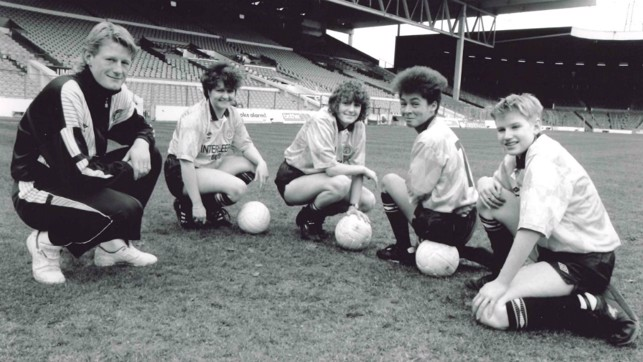 BACKING: Colin Hendry became the Ladies Team President in March 1990