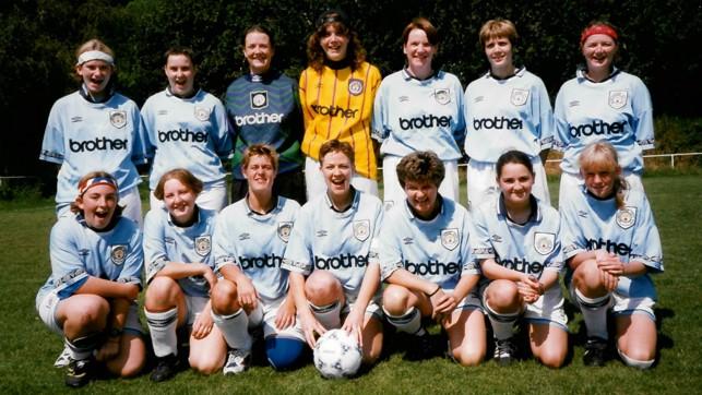 BUOYANT BLUES: The 1996/97 squad