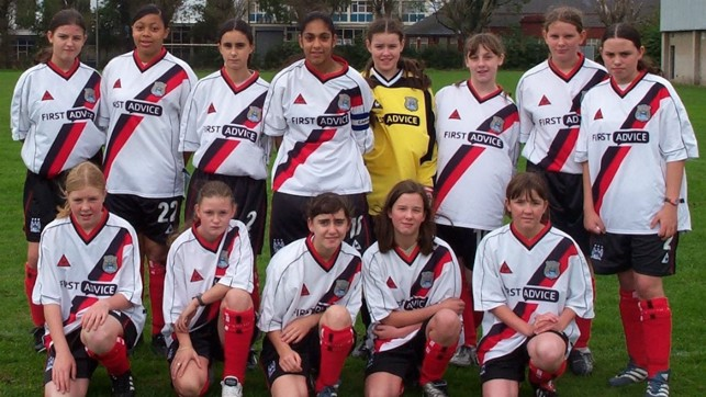 YOUTHFUL EXUBERANCE: City also had a youth set up of girls' teams through the age groups