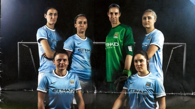 NEW BEGINNINGS: The Club rebranded to 'Manchester City Women' in 2014, set to become fully professional. A number of England internationals joined the ranks, including captain Steph Houghton