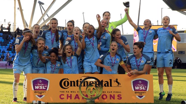 DOUBLE JOY: A second Conti Cup Final victory to complete a league and cup double