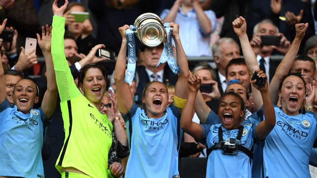 WEMBLEY WONDER: FA Cup success in May 2017!