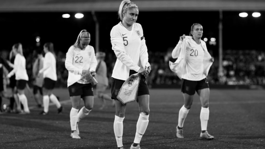 LIONESS: England's recent run out at Craven Cottage.