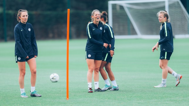 ALL SMILES: There's a superb squad chemistry developing ahead of the WSL season