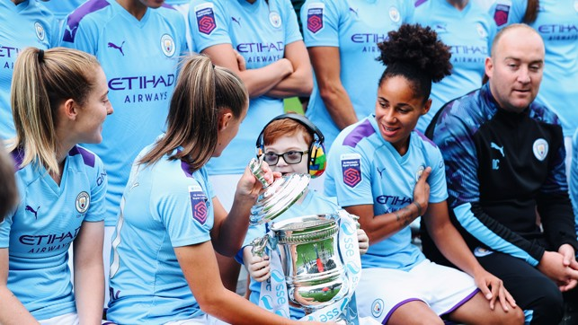 CUP JOY: Jacob had the chance to lift the FA Cup!