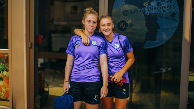 YOUNG STARS: City and England teammates - and close friends - Keira Walsh and Georgia Stanway