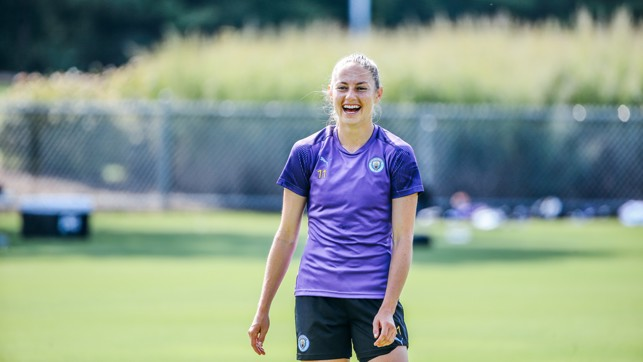 BUOYANT BECKIE: Janine Beckie is enjoying being back in the States