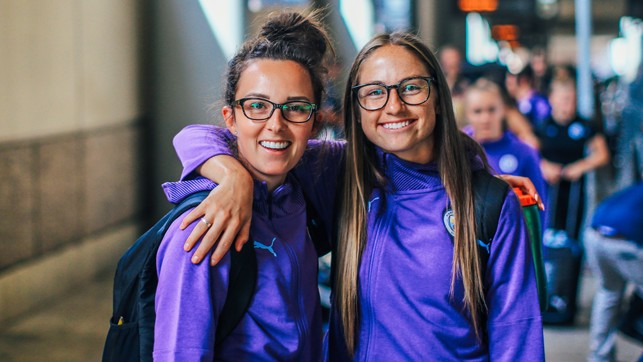 CITY SISTERS: World Cup stars Caroline Weir and Janine Beckie