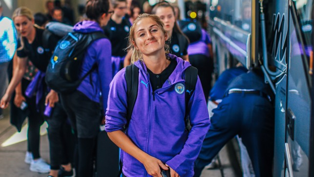 NEW RECRUIT: Laura Coombs, on her first pre-season Tour with City