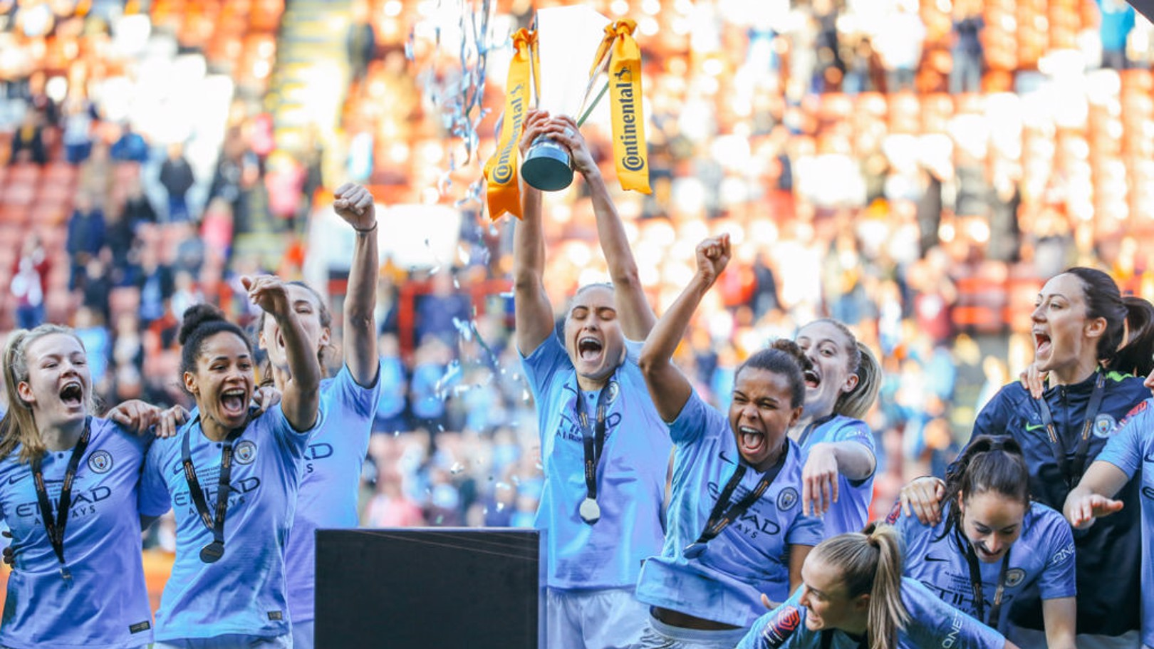 UP  FOR THE CUP: The smiles say it all as City lift the Continental Cup