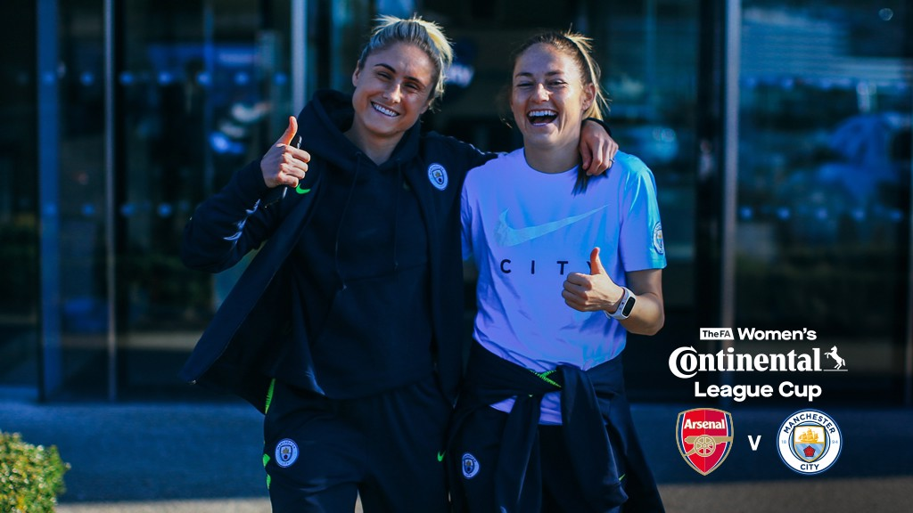 THUMBS UP: Steph Houghton and Janine Beckie play up to the camera