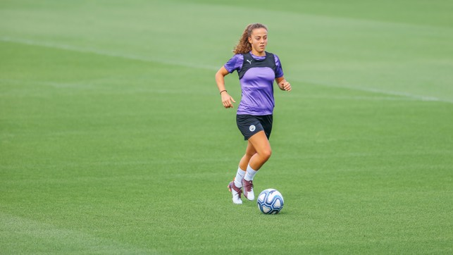 ON THE BALL: Matilde Fidalgo also got the chance to work on her skills