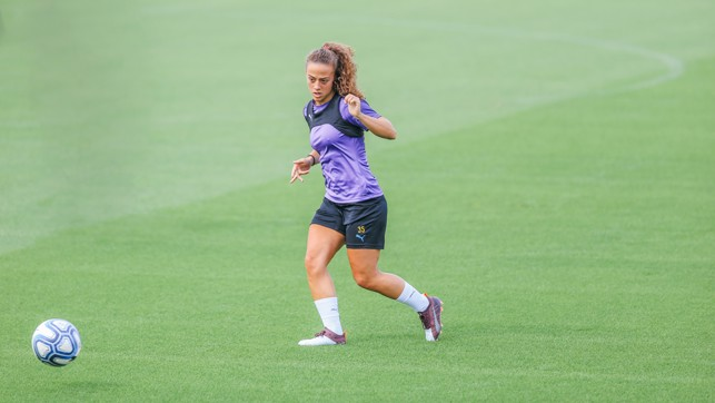 PASS MASTER: Matilde goes through a passing drill
