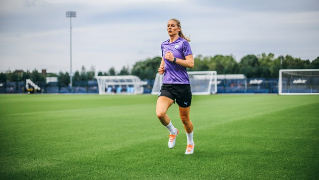 ACTION STATIONS: Gemma Bonner is put through her paces