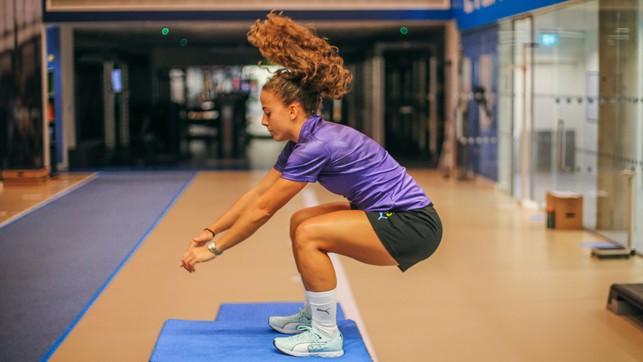 FLEXI TIME: Matilde Fidalgo goes through her routine in the City gym