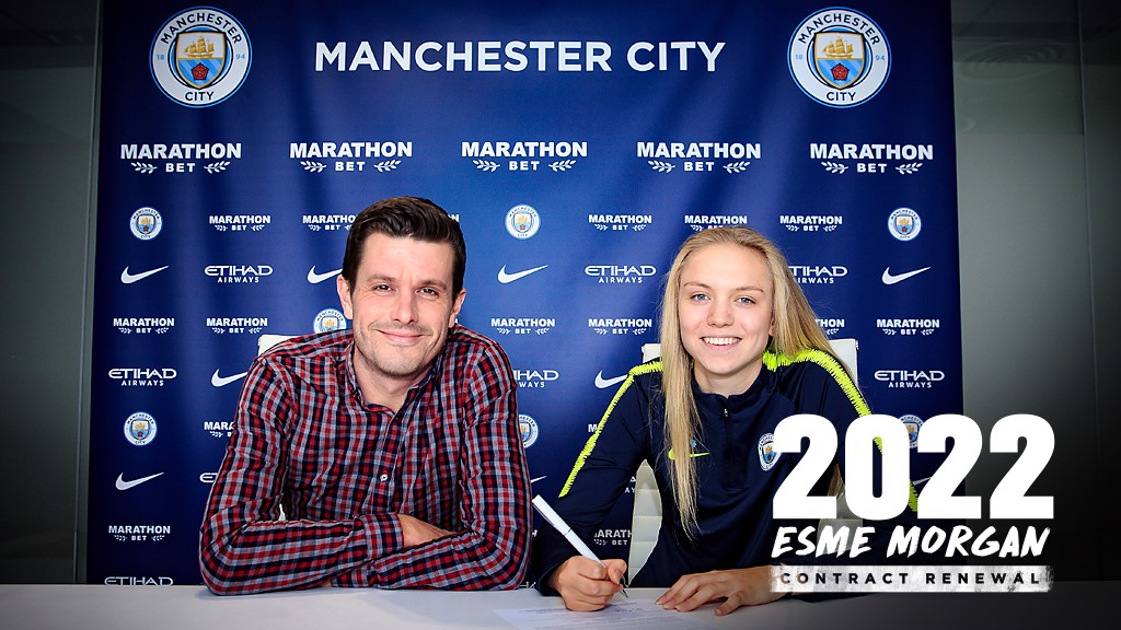 A DREAM IN HER HEART: Lifelong City fan Esme Morgan has signed her first professional contract