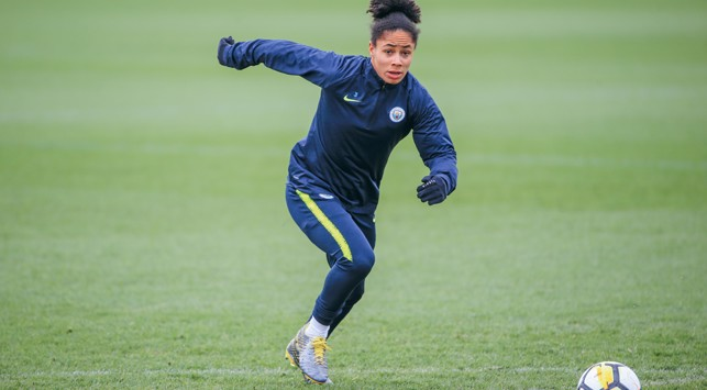 ACTION STATIONS: Demi Stokes puts in sprint work