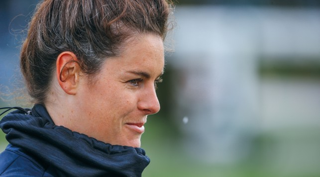 FOCUS TIME: Jen Beattie eyes up the next training drill