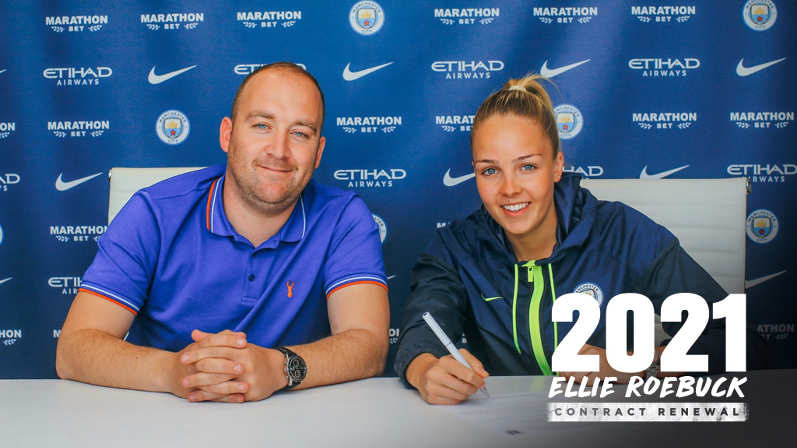 NEW DEAL: Ellie Roebuck puts pen to paper on a contract extension