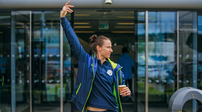 STRIKE A POSE: It's out keeper Karen Bardsley....
