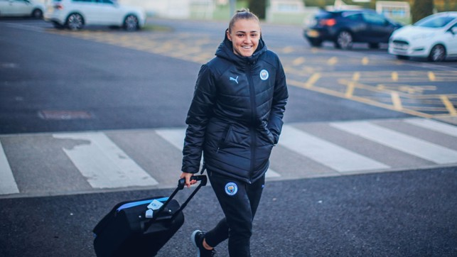 STAN-WAY TO MADRID: A typically mischievous smile from Georgia Stanway