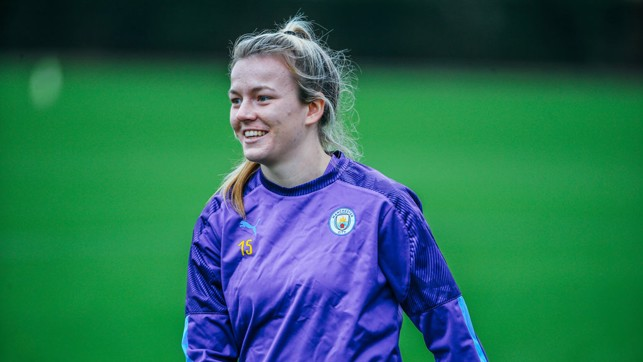 HAPPY HEMP: All smiles for the youngster, fresh from her senior England debut