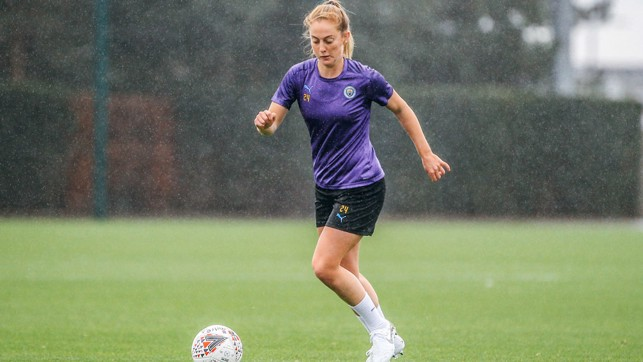 WALSH OUT: Rochdale-born Keira Walsh is used to the Manchester weather!