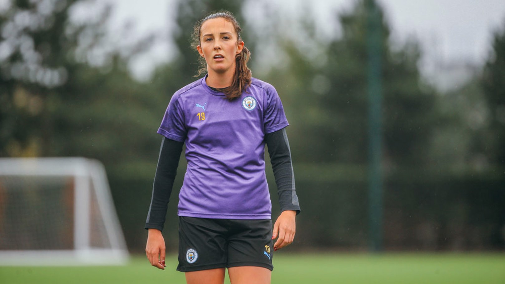 RAIN AND WEIR: Will Caroline Weir continue her excellent form with a goal on Saturday?
