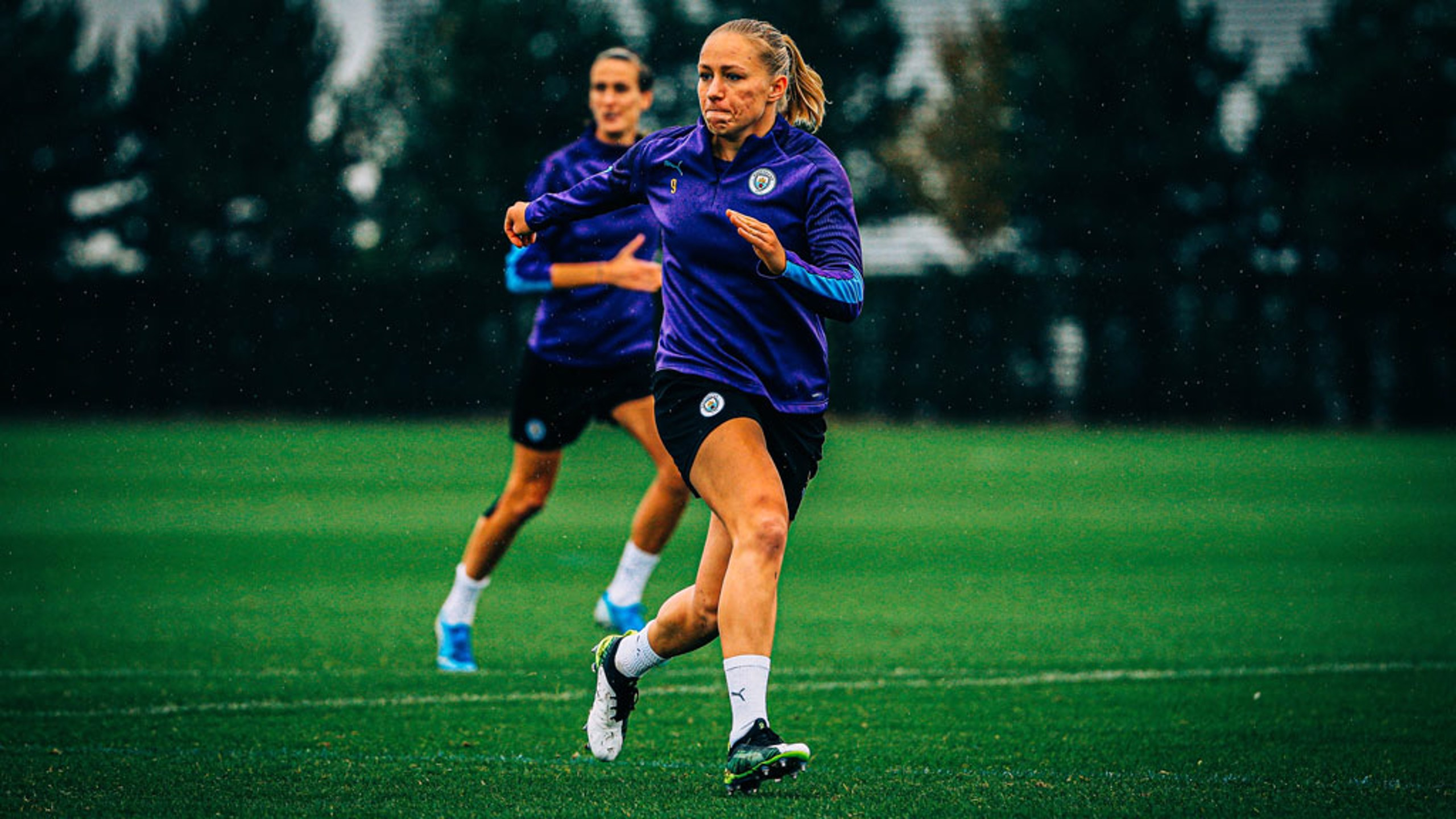 BREMER BULLET: Pauline Bremer races into a goalscoring opportunity