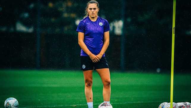 LEARNING: Youngster Katie Bradley watches on intently
