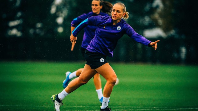 P SHOOTER: City's 2019/20 top scorer readies herself for a chance
