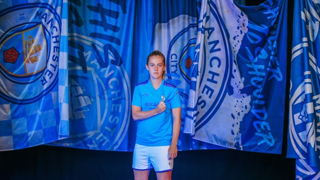 BADGE OF HONOUR: Lifelong City fan Keira Walsh says she can't wait to tackle United this weekend