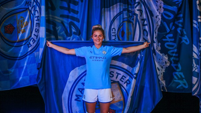 STRIKE A POSE: Summer signing Laura Coombs is already loving life at City