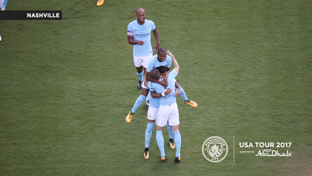 EMBRACE: Hugs as City open the scoring