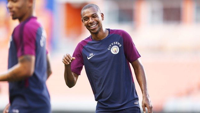 MORE SMILES: This time, Fernandinho