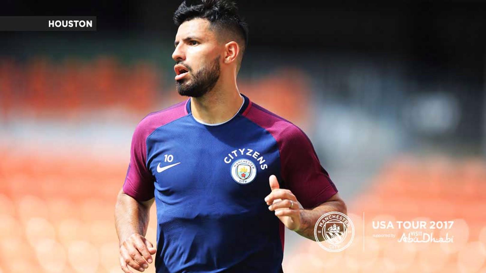 THE MAN: A focussed Sergio Aguero