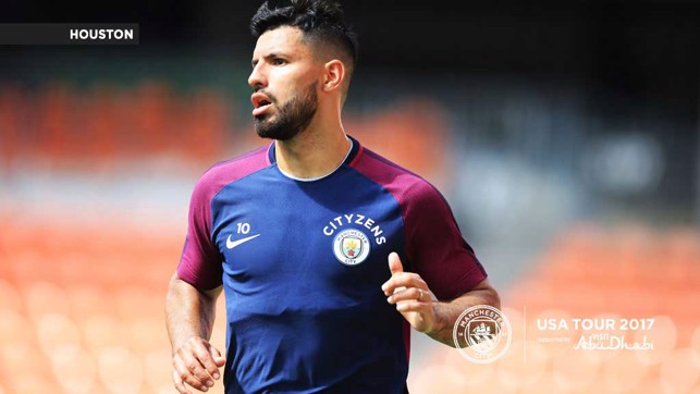 THE MAN: A focussed Sergio Aguero