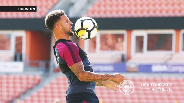 WALK THIS WAY: Kyle Walker takes control