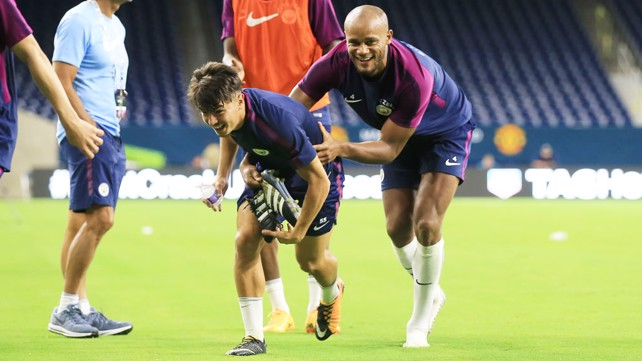Image result for kompany training 2017/18